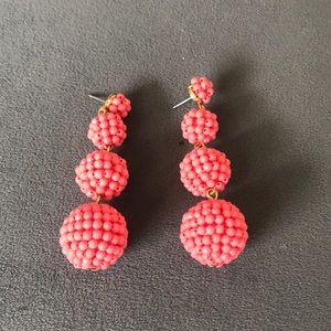 Jcrew Beaded Ball Earrings